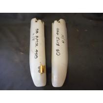 09 SUZUKI RMZ450 Fork Guards Plastic Protectors RM Z 450 Suzuki RM-Z 08-10