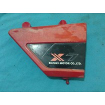 Suzuki X7 X 7 Side Cover Guard Frame Fairing 1981 81 Red Black Parts