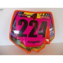 04 KTM 65SX Face Plate Number Race Plate KTM SX 65 2002-2008
