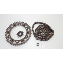 Used Front Rear Sprockets and Chain Yamaha YZ125 1998
