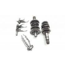 Gearbox Assembly 5spd Husqvarna TC250 TE TC SMR 250 07-09 Gear Shaft Fork Shift Drum Selector