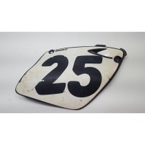 Right Side Cover Number Plate KTM SX EXC 125 200 250 300 380 400 520 SX 98-01 rear black/white