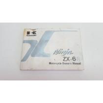 Owner's Manual Kawasaki Ninja ZX-6R ZX600 1996