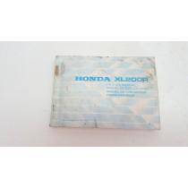 Owner's Manual Honda XL200R