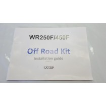 Brand New Genuine Offroad Kit Installation Guide Manual Yamaha WR450F 2021 WR 450 250 F #757