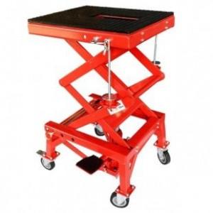 Red Dirt Bike Motorcycle Scissor Lift Stand 300LB 136KG Capacity